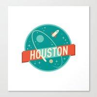 houston Canvas Prints featuring HOUSTON by Fedi