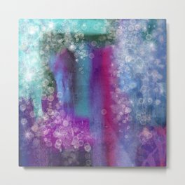 Abstract Waterfall Bubbles  Metal Print