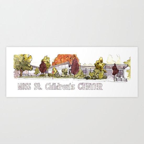 Moss Street Art Print