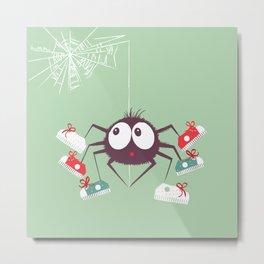 Halloween Spider Metal Print