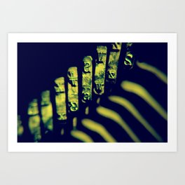 the moving finger writes; and, having writ, moves on Art Print