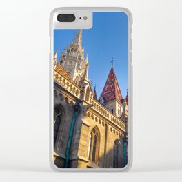 CITY PHOTOGRAPHY - BUDAPEST Matthias Church Clear iPhone Case