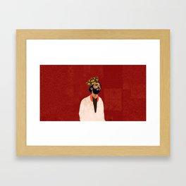 Mo Salah the Egyptian king Framed Art Print