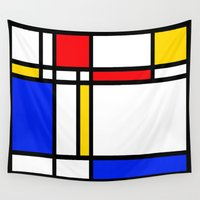 mondrian Wall Tapestries featuring Mondrian by The Wellington Boot