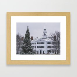Snow Dusted Dartmouth Hall Framed Art Print