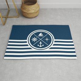 Sailing symbols Rug