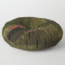 Dinghy On The Oxford Canal Floor Pillow