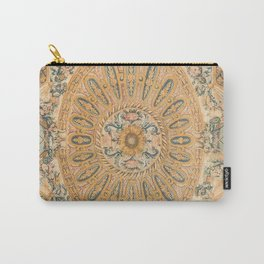 Louvre Fame Carpet // 16th Century Sunflower Yellow Blue Gold Colorful Ornate Accent Rug Pattern Carry-All Pouch