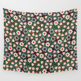 Bed of Flowers Wall Tapestry