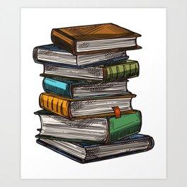 Magic Book Piles Art Print