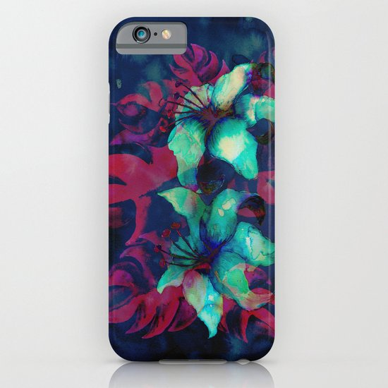 Tropical Flower - Blue Lilly iPhone & iPod Case