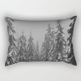 Snow Trees Rectangular Pillow