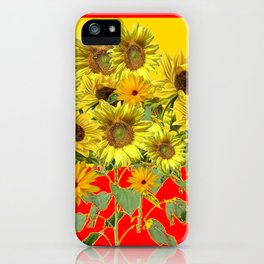 GOLDEN-RED SUNNY YELLOW SUNFLOWERS iPhone Case