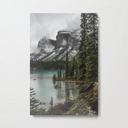 Landscape Maligne Lake Island Metal Print