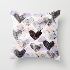 Love Triangle Throw Pillow