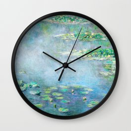 water liliesMonet Water Lilies / Nymphéas 1906 Wall Clock