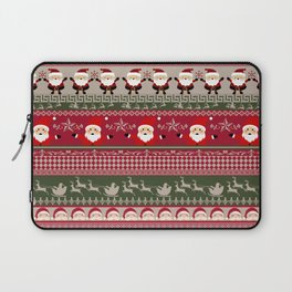 Santa Claus Ugly Sweater Laptop Sleeve