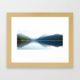 Sunrise over Glacier National Park Framed Art Print