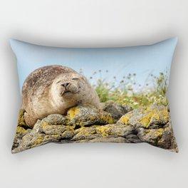 Seal at Dunvegan Castle, Scotland Rectangular Pillow