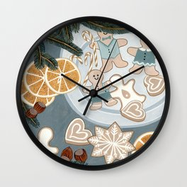 Gingerbread Men Cookies Wall Clock