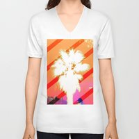 palm tree V-neck T-shirts featuring Palm tree by emegi
