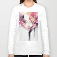 decorative Long Sleeve T-shirts featuring Bauhinia by Anna Dittmann