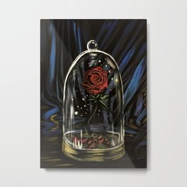 Enchanted Rose Metal Print