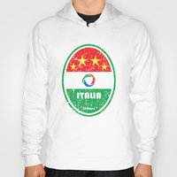 pirlo Hoodies featuring World Cup Football 2/8 - Italia (Distressed) by Made of Thoughts