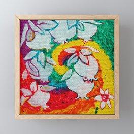 Leaves on the World Tree: Armenian Pomegranate Framed Mini Art Print