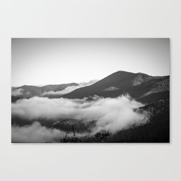 Clouds hanging on  Canvas Print