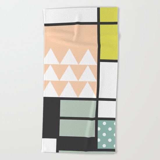 Summer Mondrian 2016 Beach Towel