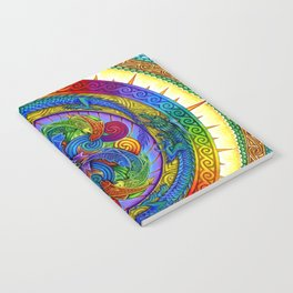 Psychedelic Dragons Rainbow Spirals Mandala Notebook