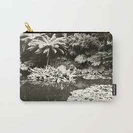 The Lost Gardens of Heligan in Black and White Carry-All Pouch