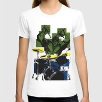 drums T-shirts featuring Smash the Drums... by Doctorductape