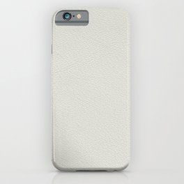 White leather texture iPhone Case