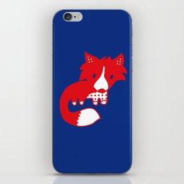 Midnight fox cub iPhone Skin