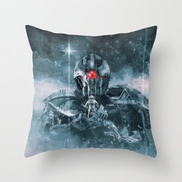 Audience With The Titan Throw Pillow