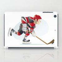 hockey iPad Cases featuring Hockey by Dues Creatius