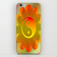 yin yang iPhone & iPod Skins featuring Yin Yang by Art-Motiva