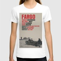 movie poster T-shirts featuring Fargo Movie Poster  by FunnyFaceArt