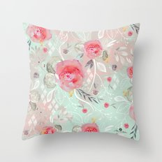 Abstract geometric spring Throw Pillow