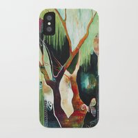 """flora bowley iPhone & iPod Cases featuring """"Temple Lilies"""" Original Painting by Flora Bowley by Flora Bowley"""