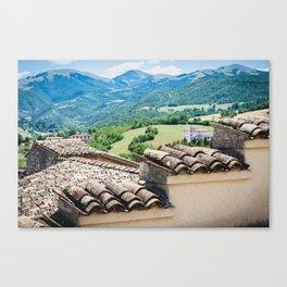 Umbrian landscapes Canvas Print
