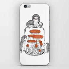 Hedgehog Amanita Mushroom iPhone & iPod Skin