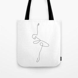 Abstract Ballerina Tote Bag