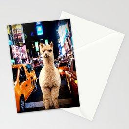 Llama in New York Stationery Cards