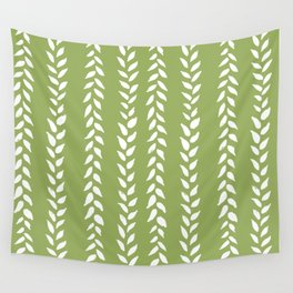 Sap Vines - nature spring leaves green pattern Wall Tapestry