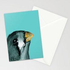 Zebra finch - teal Stationery Cards