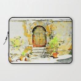 Door of the church Tortora Laptop Sleeve