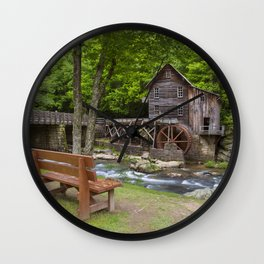 Glade Creek Grist Mill In Summer Wall Clock